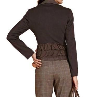 Jersey-Seiden-Blazer, dunkelbraun von APART