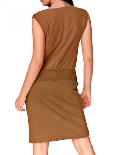 Chiffon-Jersey-Kleid, cognac von Travel Couture by Heine