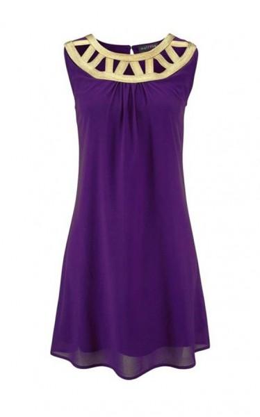 Kleid, lila-gold von Melrose