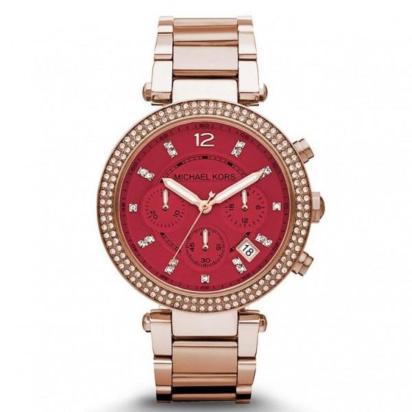 Michael Kors MK6106 Damen armbanduhr Farbe Gold & Rot
