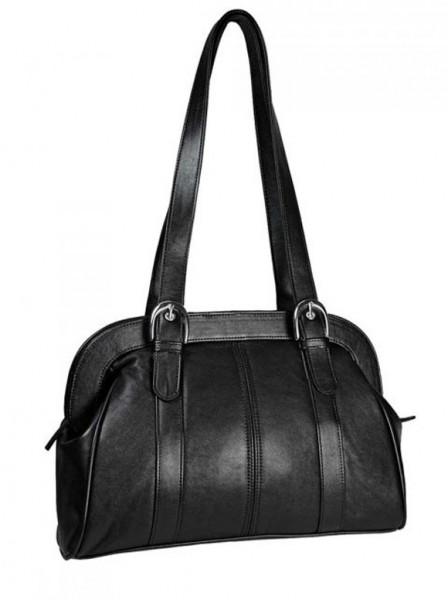 Leder-Tasche, schwarz von Marc Chantal