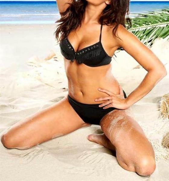 Bikini mit Fransen, schwarz von APART