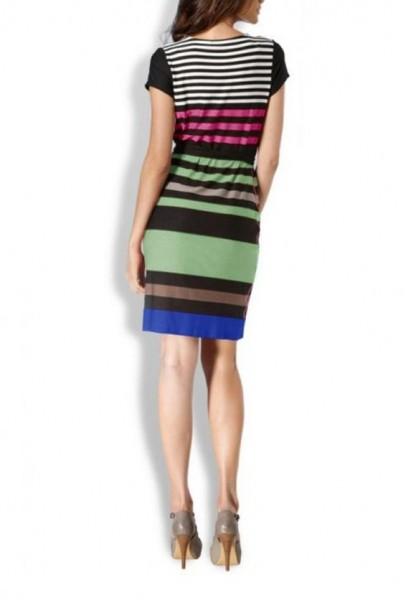 Designer-Kleid, schwarz-grün-bunt von Rick Cardona