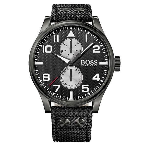 Hugo Boss Herrenuhr Textil 1513086 Chronograph
