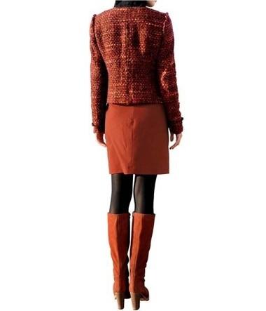 Wickelrock, burned-orange von Alba Moda